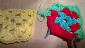 Granny Squares in progress